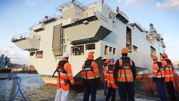 El buque británico parte esta semana para el Caribe