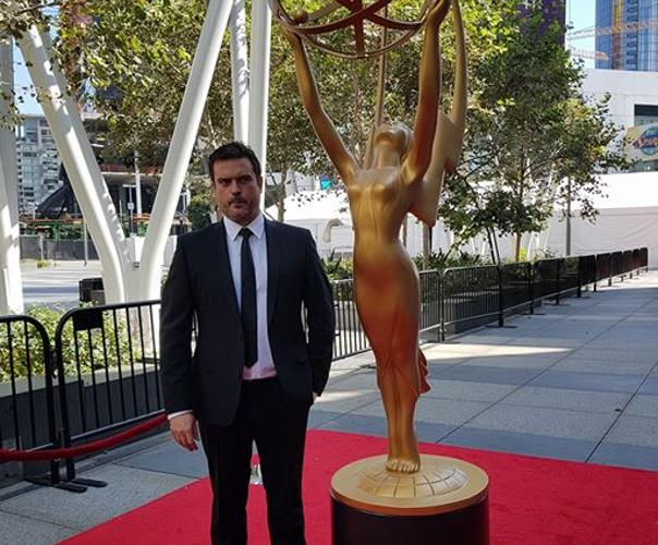 El isleño antes de entrar en la entrega de premios de la Academia de Televisión de EEUU