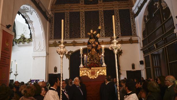 La imagen de Jesús Nazareno, en su templo de Santa María.