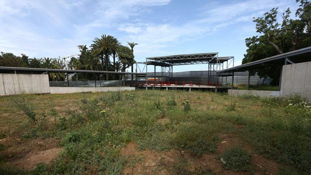 Aspecto que presenta el teatro Pemán a falta de ejecutar la segunda fase del proyecto.