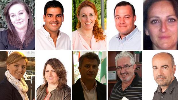 Ediles de Espartinas que han presentado su dimisión como concejales o responsables de algunas delegaciones municipales