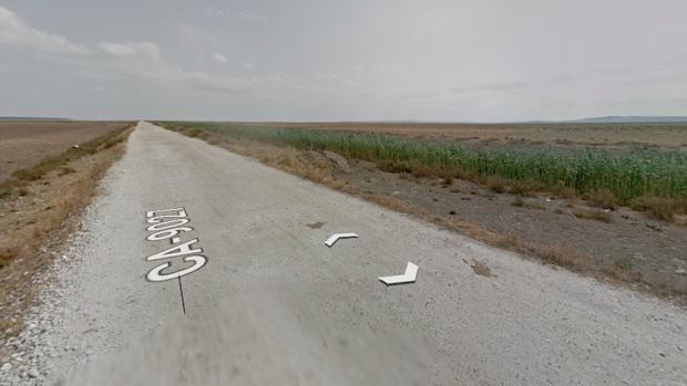 La carretera 9027 a su paso por Sanlúcar de Barrameda