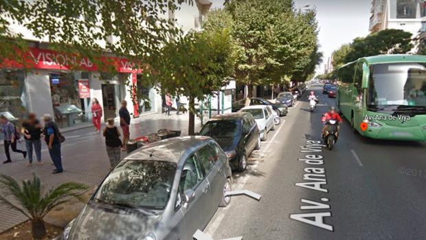 Avenida Ana de Viya en Cádiz