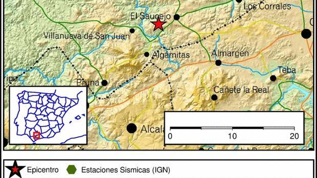 En menos de 24 horas se han registrado tres terremotos con epicentro en El Saucejo