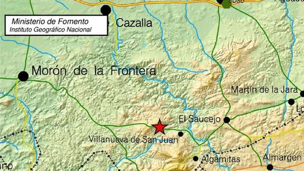 El terremoto de este jueves ha tenido su epicentro en Villanueva de San Juan