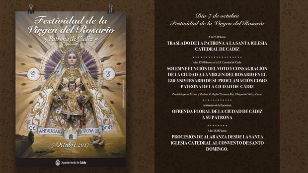 El cartel con los actos que se celebrarán el 7 de octubre.