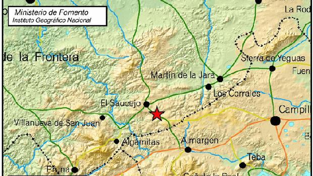 Lugar donde se ha producido el terremoto