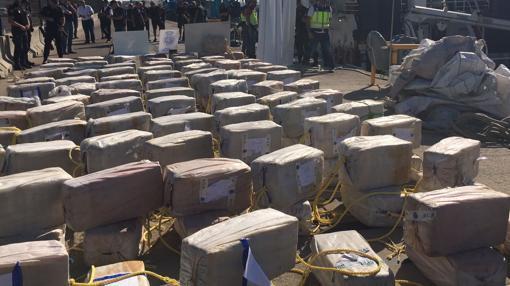 Han sido unas 3, 8 toneladas de cocaína
