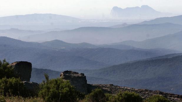 Vista del parque Natural de Los Alcornocales desde el EVA