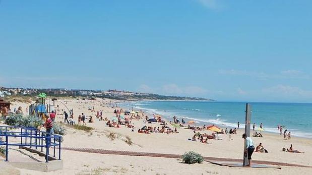 La playa de La Barrosa.