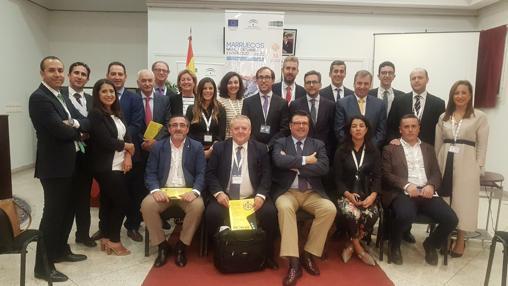 Integrantes de la misión comercial en Marruecos