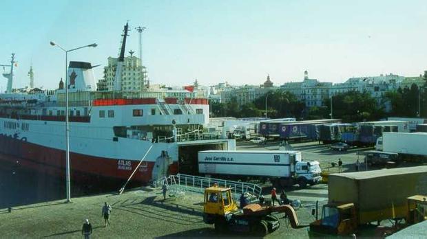 Imagen de archivo del tráfico entre Cádiz y Casablanca