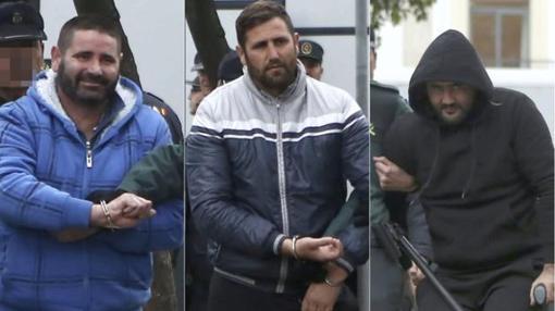 Los hermanos Venegas, llegando a la Audiencia Provincial.