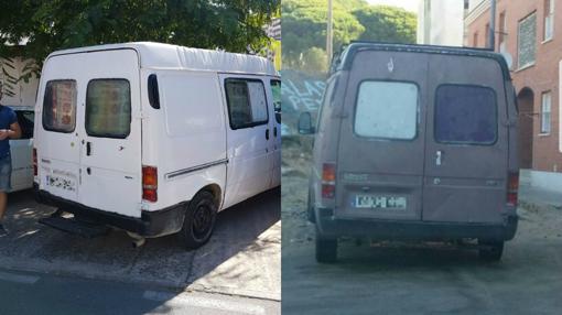 La furgoneta que cambió de color (de marrón a blanca) y utilizaba para esconderse.