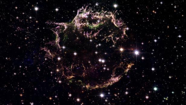 Explosión de la supernova Cassiopeia