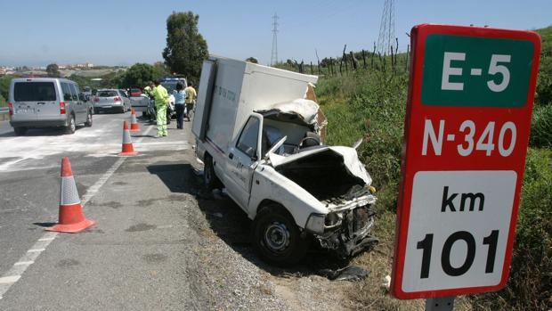 Accidente en la N-340 entre Vejer y Algeciras