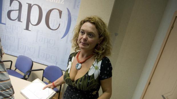 Blanca Flores durante la presentación de su candidatura en 2008