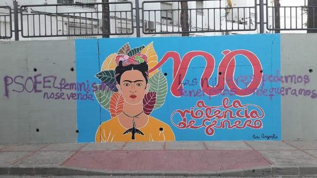 Mural con las pintadas