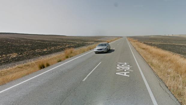Carretera A-364 con dirección a Marchena