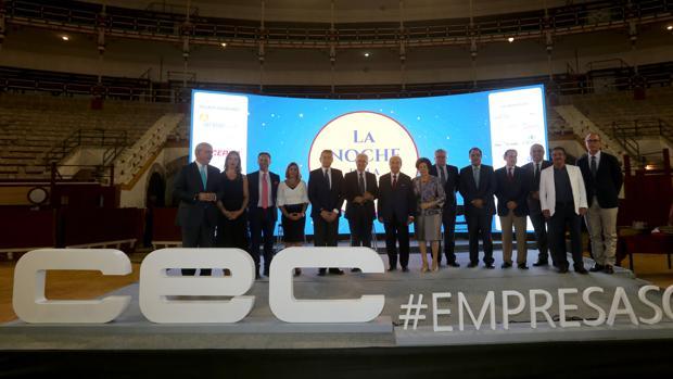 Celebración el pasado junio en El Puerto de la Noche de la Empresa, un acto de la patronal de empresarios