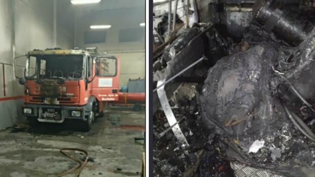 Una Bomba Urbana Pesada ha quedado completamente destrozada