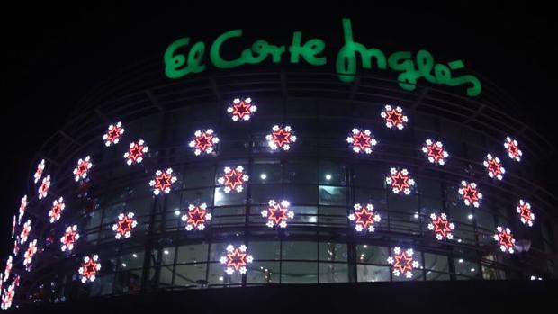 Iluminación del Corte Inglés en Cádiz