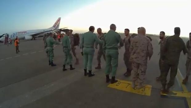 La Fuerza Expedicionaria a punto de embarcar para integrarse a la misión de la UE
