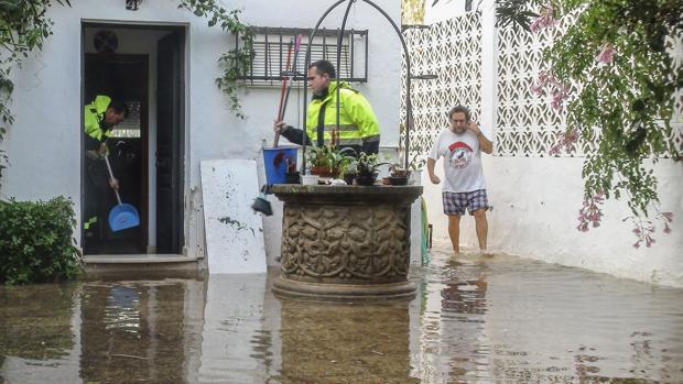 Vivienda afectada por las lluvias en Conil