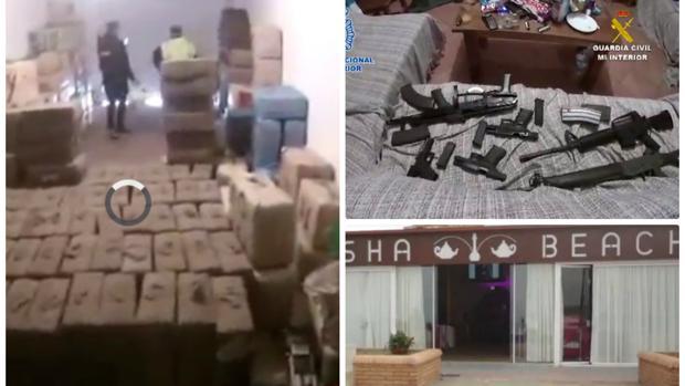 Droga y armas incautadas en una operación anterior contra la banda