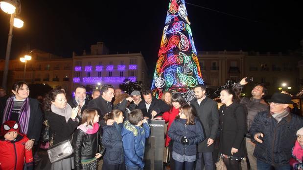 Inauguración de la iluminación navideña en el centro