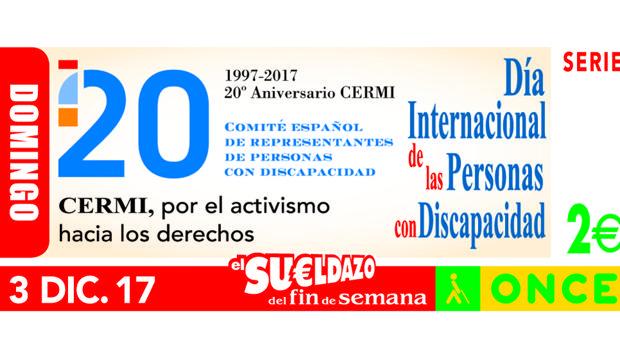 El cupón de la ONCE de este domingo estaba dedicado al Día Internacional de las Personas con Discapacidad
