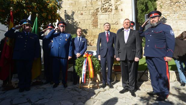 Momento de la conmemoración de la llegada de la primera embajada rusa a España.