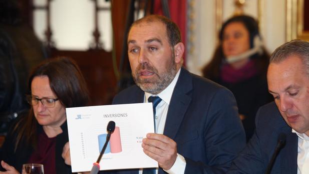 Jesús Solís, responsable del área de Servicios Económicos, presenta el presupuesto de Diputación.