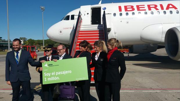El pasado 30 de noviembre llegó al aeropuerto de Jerez el pasajero un millón