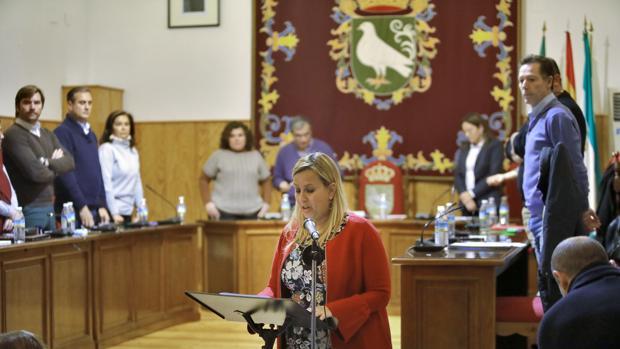 La nueva alcaldesa, la socialista Ana Isabel Jiménez, jura su nuevo cargo