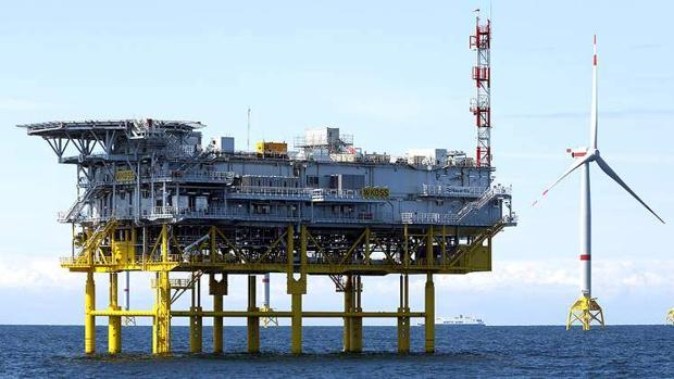 Complejo Wikinger en el Mar Báltico. La plataforma se construyó en Puerto Real para Iberdrola