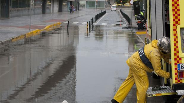 Los bomberos de Cádiz en otra actuación