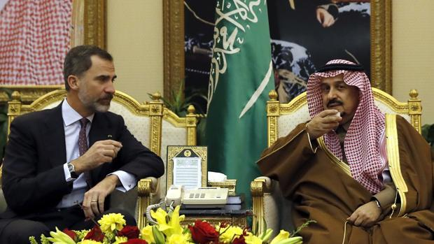 El Rey de España estuvo tres días en enero de 2017 en Riad junto con empresarios españoles