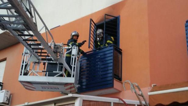 Actuación de los Bomberos en un incendio anterior