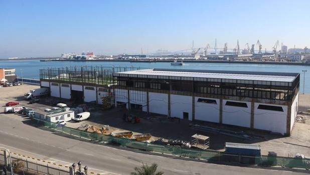Estado actual de las obras del futuro gimnasio del Muelle