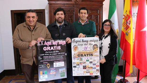 De izda. a dcha., Miguel Ángel Nogales, Antonio Enamorado, Francisco José García Oliver y María Luisa Cava