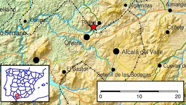 Dos terremotos se han dejado sentir este martes en Pruna