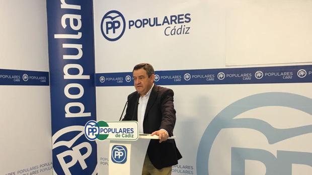 El portavoz del Partido Popular en la Diputación provincial de Cádiz.