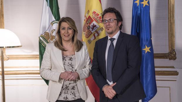 Alcalde y Presidenta antes del encuentro en San Telmo