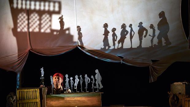 Un instante de la representación de la obra «El tesoro de la Barracuda»