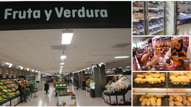 El interior del supermercado de Mercadona de la Avenida de San Severiano destaca por su amplitud y calidez.