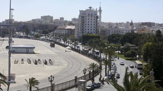 Vista aérea del Muelle Ciudad de Cádiz