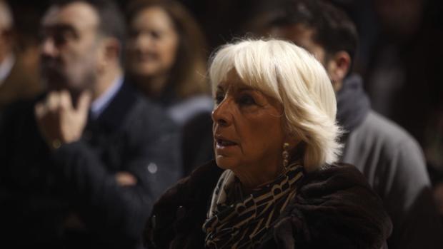 Teófila Martínez, durante el homenaje al Día de Andalucía