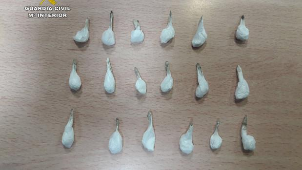 Cocaína incautada por la Guardia Civil
