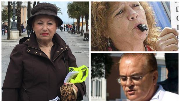 Charo Galván, María Antonia Pachecho y Juan Cejudo
